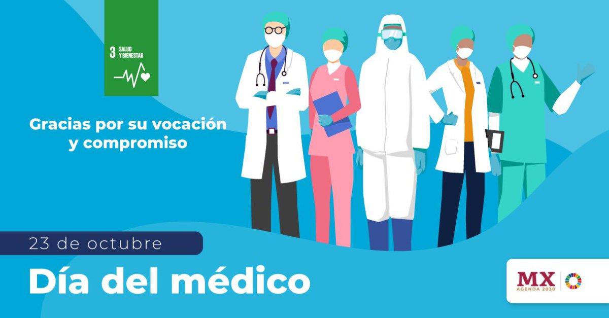 En estos tiempos de pandemia, hoy más que nunca reconocemos la labor de las médicas y médicos que están al frente de esta lucha por el derecho a la salud para que salgamos adelante ¡Gracias! #DíaDelMédico https://t.co/har3fzJiD3