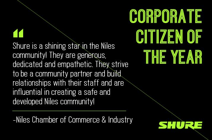 We are honored to be named Corporate Citizen of the Year by the @Niles_Chamber of Commerce & Industry. Congratulations to all of this year's award recipients. Learn more at shu.re/2Trb7E9.