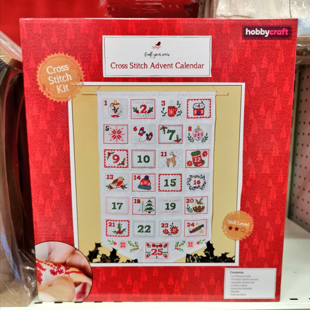 Something a little different for Advent? This gorgeous cross stitch calendar could be just the thing. Make something that will be a joy  to use year after year..,. Just £10🌲🎅🎁 #hobbycraft #Solihull #christmas #advent https://t.co/glbtuE1IFl