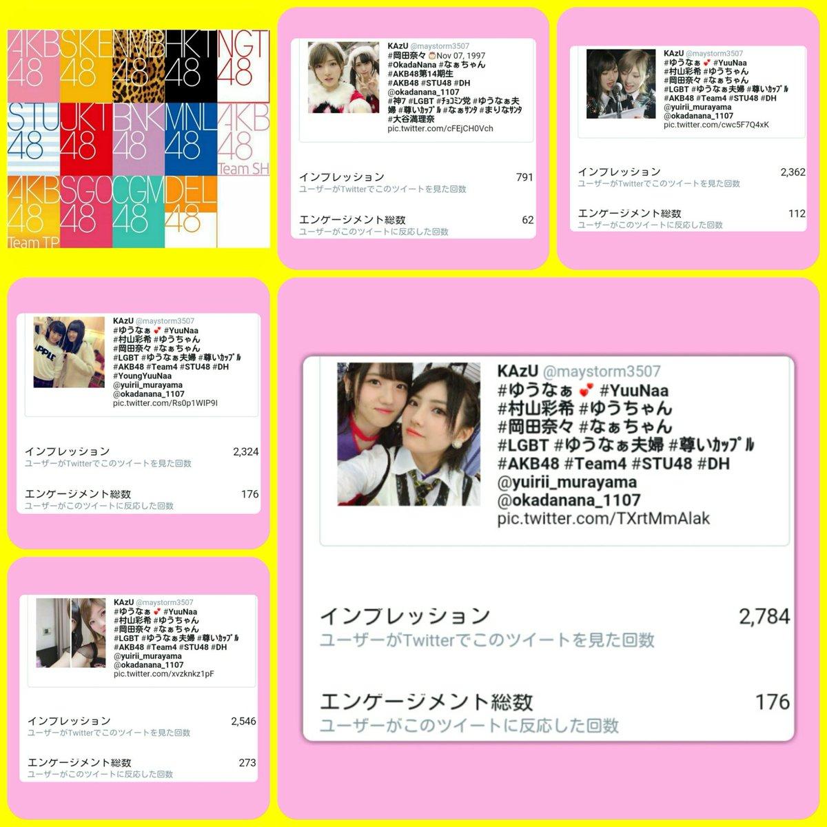 #ツイートアクティビティ #インプレッション #impression 《ユーザーがTwitterでこのツイートを見た回数》 10月17日(土) ツイート数:6 インプレッション合計:10807 [+1633] 最高値:2784 #ゆうなぁ夫婦 #LGBT #尊いカップル #村山彩希 #岡田奈々 #AKB48 #STU48 https://t.co/SGIuilaTcB