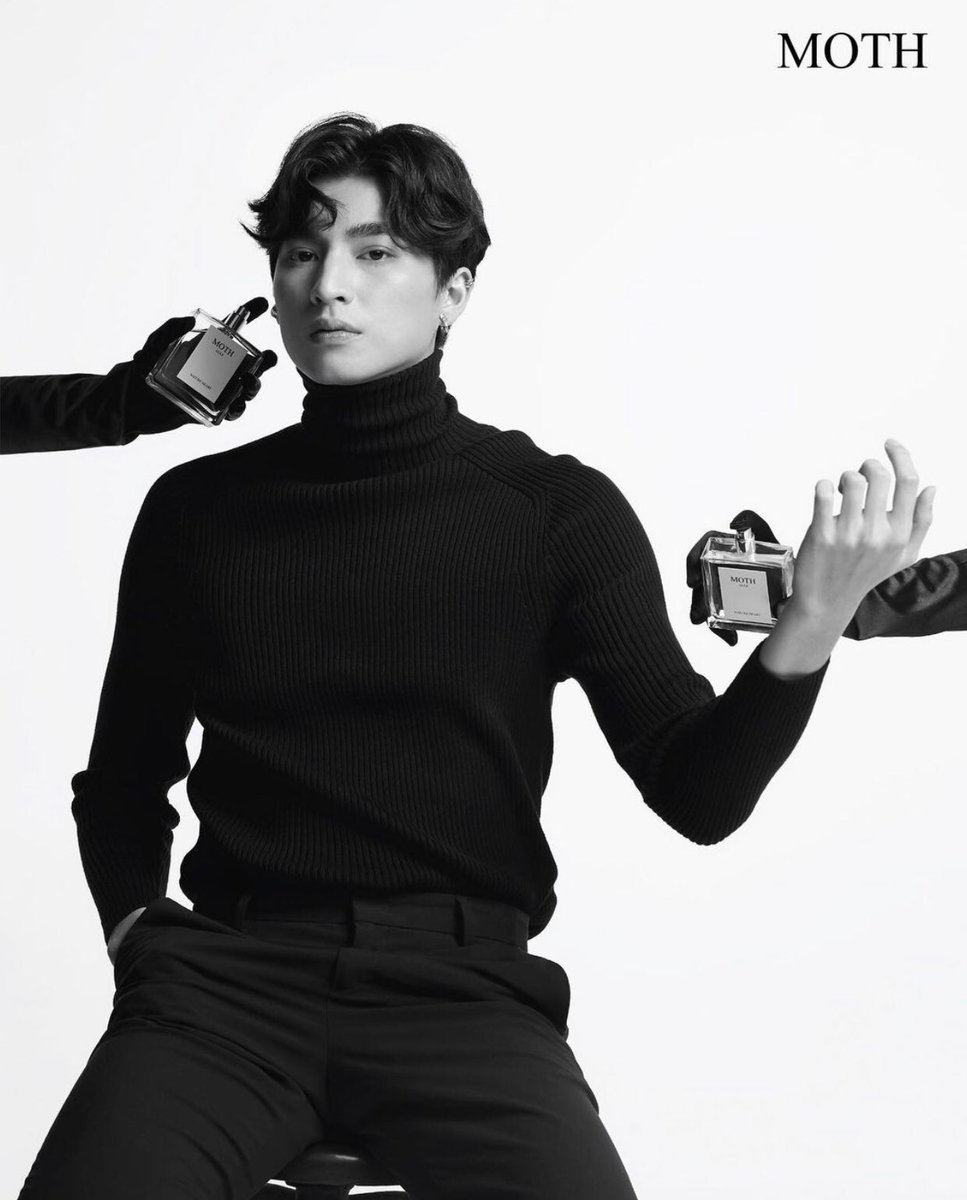 The final shot of Gulf being clad in all black can mean that he has embraced himself and he is confident in his own skin, he knows he is powerful and strong and he isn't afraid to show his mark while also being pure and good. +
