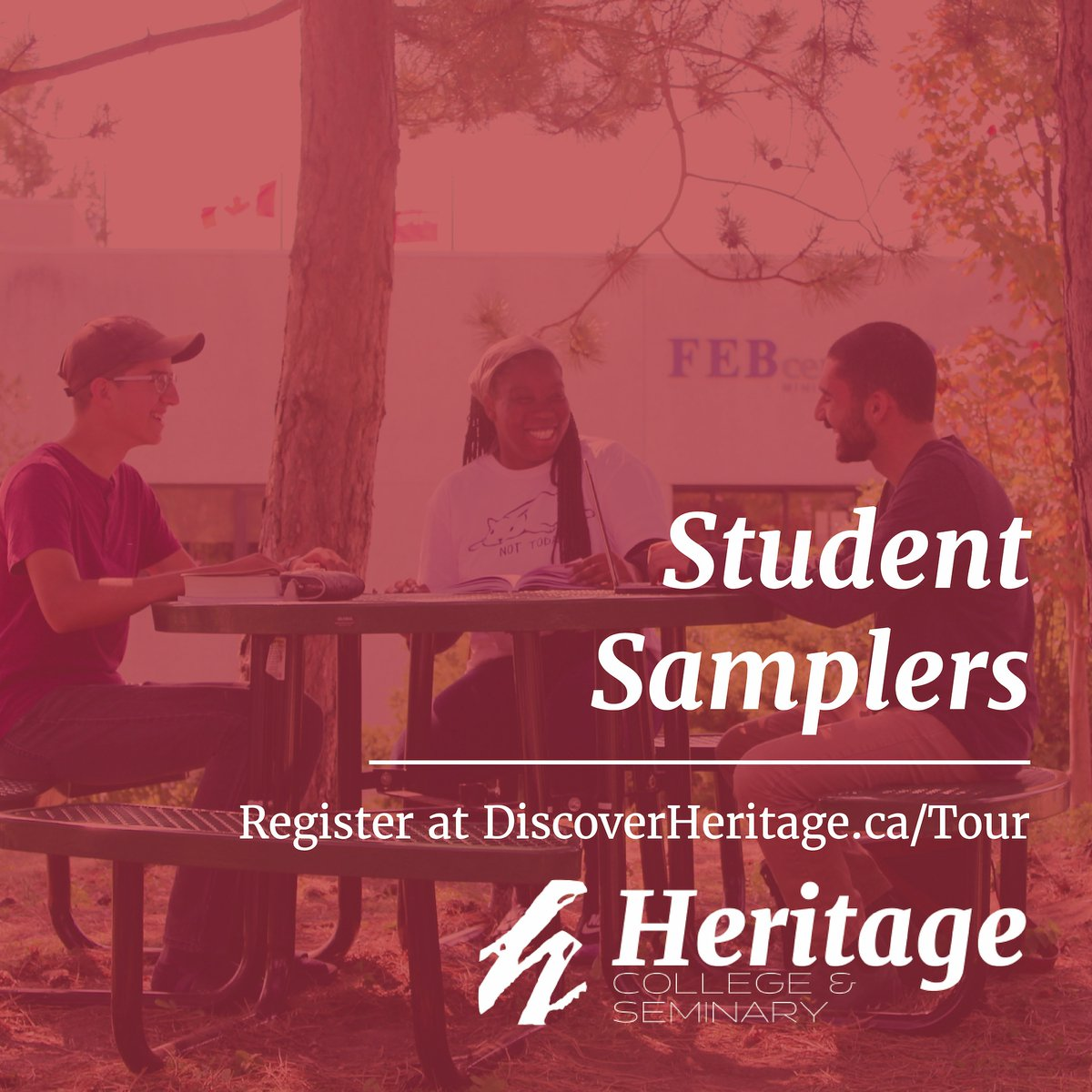 Discover life at Heritage this fall at one of our new, one-day Student Sampler events. Experience what it is like to be a college student at Heritage for a day.  Visit Heritage for our first Student Sampler of the year on Tuesday, November 17.  Sign-up at https://t.co/ToE1FWrS4v. https://t.co/z8amJ1uNWa
