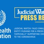 Image for the Tweet beginning: Judicial Watch announced that it