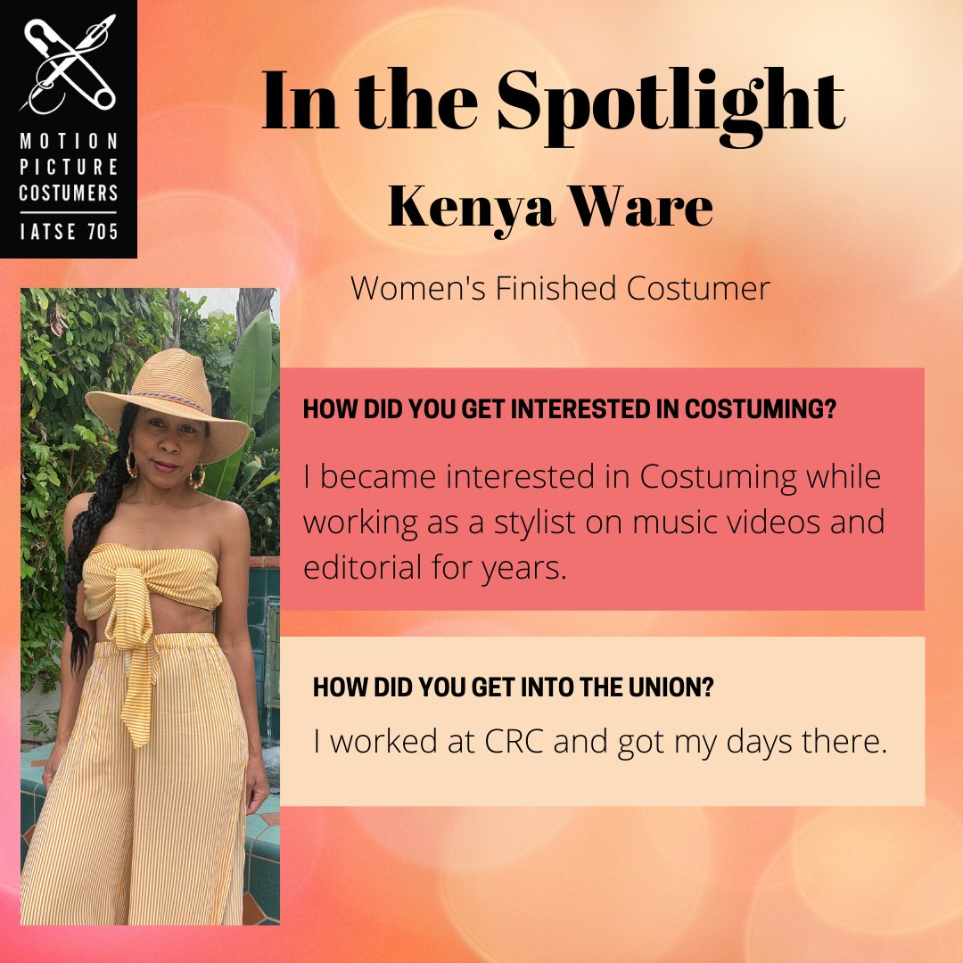 For this weeks MPC 705 Spotlight, we would like to introduce you to Kenya Ware (@WareKenya ). She is a Womens Finished Costumer and has been in the union 20 years! Every full-length Q&A is also available via the #MPC705 Facebook and Instagram accounts.