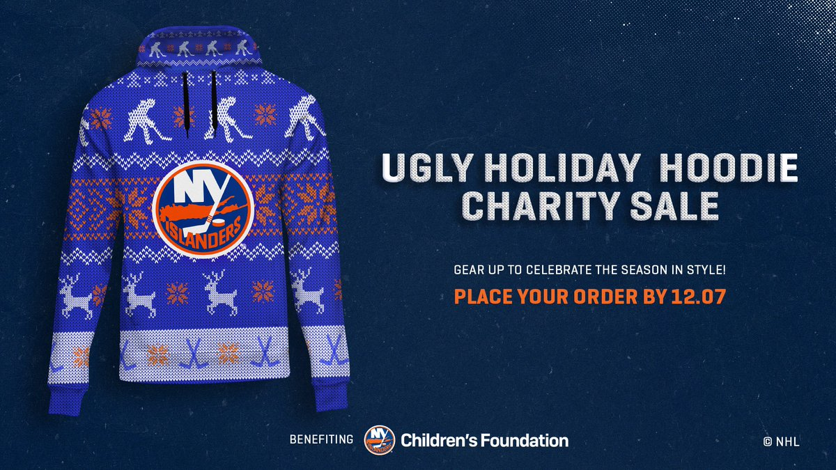 You can support the Islanders Children's Foundation and get an awesome #Isles hoodie through our Holiday Hoodie campaign! Place your order by 10/28 to receive your package by the second week of December! 🤩  Order here: https://t.co/F7YJo5CY6o https://t.co/F3EJzlgD7i