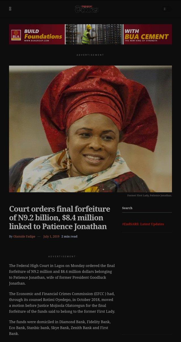 @chismo90 @UformaduJohn @AdesokanAriyo @YeleSowore @UN If Jonathan didn't loot how come EFCC recovered N9.2bn, and $8.4million from his wife? https://t.co/XedLnqCSdw