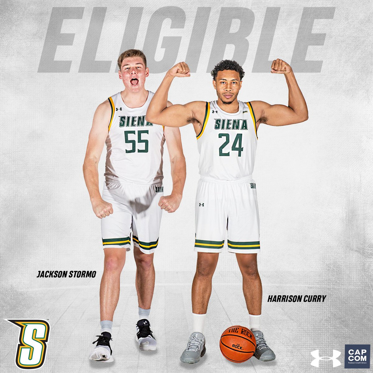 𝐄𝐋𝐈𝐆𝐈𝐁𝐈𝐋𝐈𝐓𝐘 𝙂𝙍𝘼𝙉𝙏𝙀𝘿 Transfers @HCurry_24 and @JacksonStormo have been approved waivers by the NCAA, and are immediately eligible to compete for the #SienaSaints in 2⃣0⃣2⃣0⃣-2⃣1⃣ #MarchOn | #Attack | #Finish | #EAT