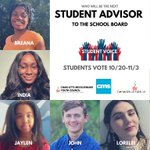 Image for the Tweet beginning: .@CharMeckSchools students... cast your vote