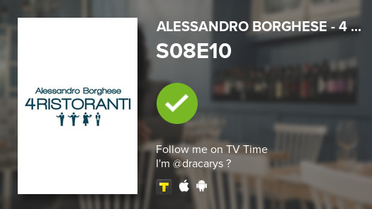 I've just watched episode S08E10 of Alessandro Borgh...! #4ristoranti  #tvtime https://t.co/KQvIkXeCWY https://t.co/vz3ikl9LMa