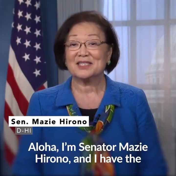 """Mitch McConnell and Senate Republicans are rushing to confirm a new SCOTUS justice—a justice they expect to be the decisive 5th vote to take away health care protections from millions of Americans in the middle of a pandemic."""" —Senator @MazieHirono Democrats are fighting this"""