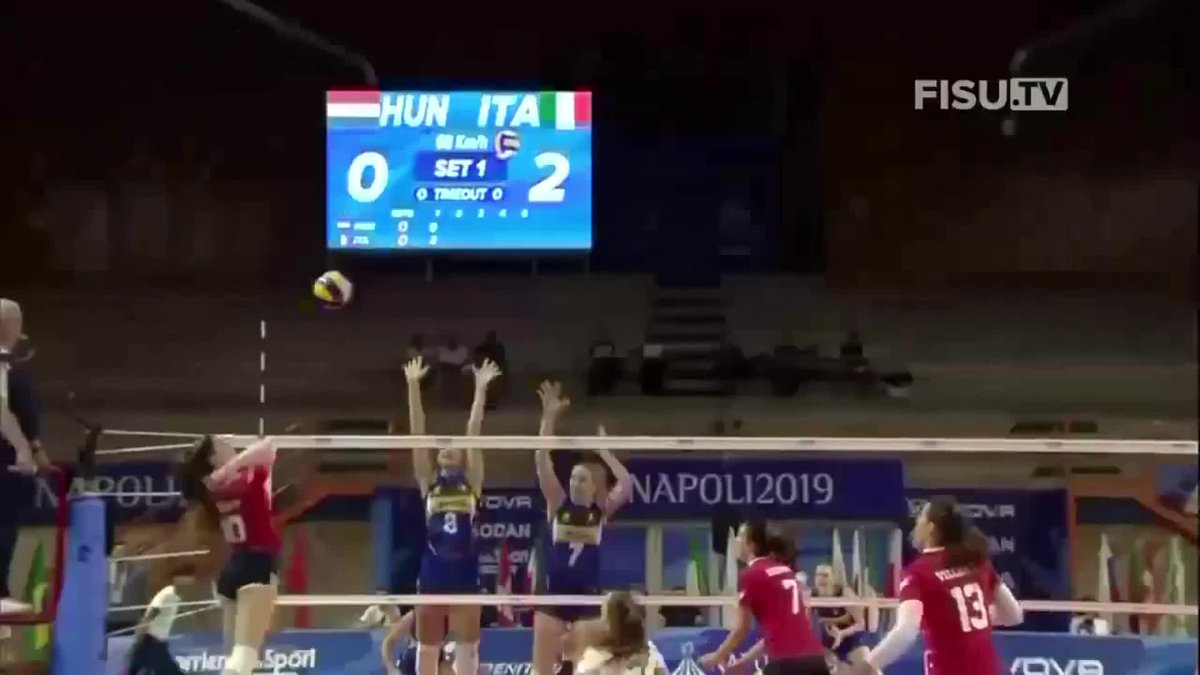 2019 Universiade Games Women's Semifinal: Italy 🇮🇹 vs 🇭🇺 Hungary  FULL MATCH: https://t.co/AlgGuhfUPW  The FISU World University Games are the largest global sports events for student-athletes. More info: https://t.co/Rn7vsy4qQo https://t.co/5dwkQpBgLr