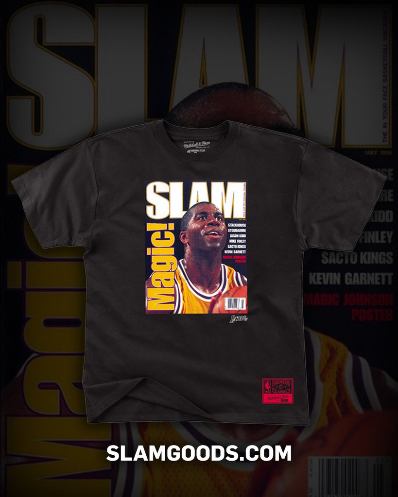 Two different, yet special, eras in the city of Los Angeles. Our new tees celebrate the original SLAM covers of both Magic Johnson and the original Rock L.A. Familia. Cop here: slam.ly/new-arrivals