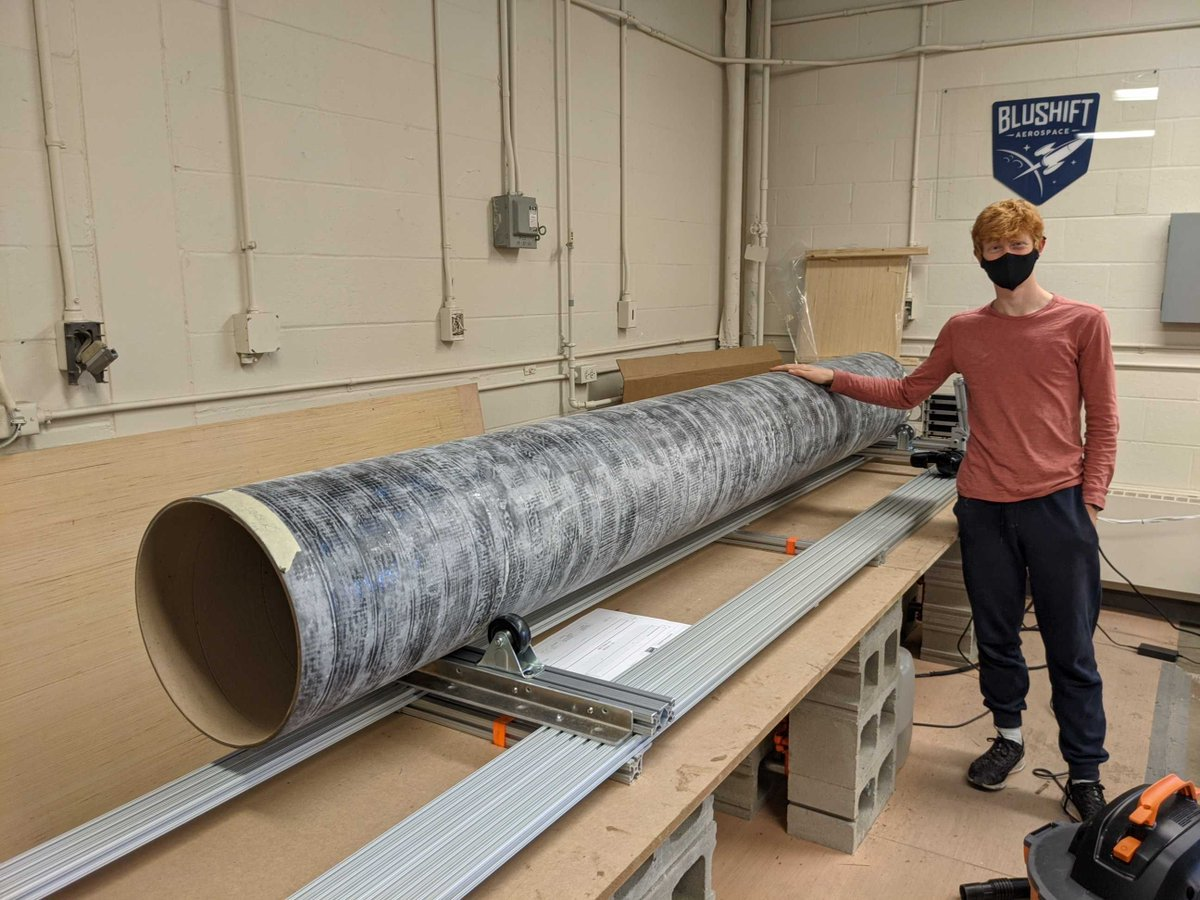 James and Steve trim the largest #composite section of the MAREVL (Modular Adaptable Rocket Engine for Vehicle Launch).  #advancedcomposites #carbon #carbonfiber #carbonfibre #compositematerials #composites #cubesat #fiberglass #madeinamerica #madeinusa #maine #picoftheday #vc https://t.co/PToyfdYXgJ