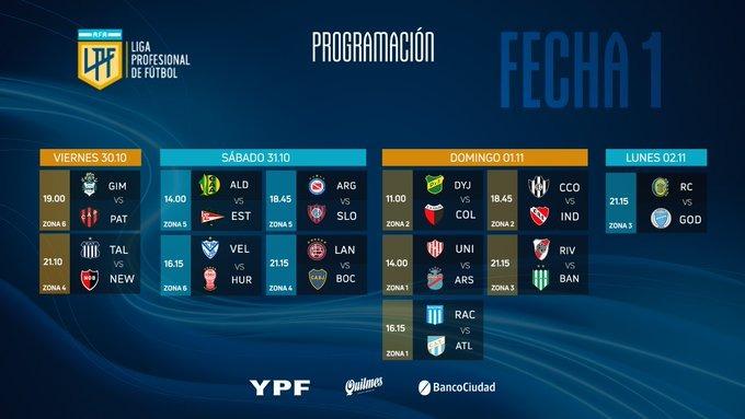 ¡DOMINGAZO DE FUTBOL! Los dos equipos de Santa Fe juegan el 01/11  11 hs Defensa - #Colón 🔴⚫️ 14 hs #Unión 🇦🇹 - Arsenal https://t.co/ra7kt60JSq