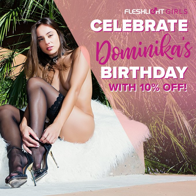 Celebrate Fleshlight Girl @DominikaChybov birthday ALL MONTH with 10% off her Fleshlight by using coupon