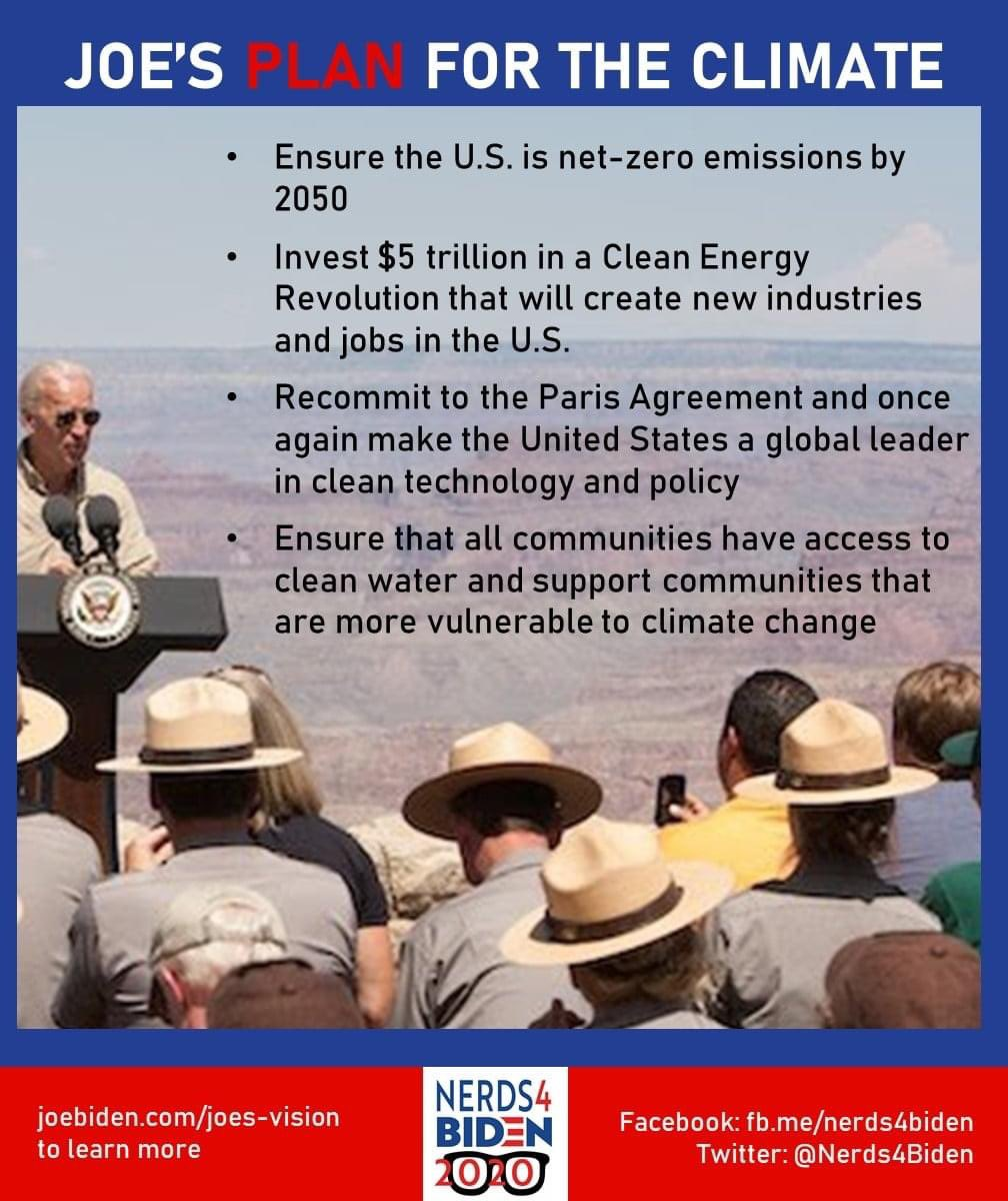 This is the  #DemPartyPlatform for 2020. This part is called: COMBATING THE CLIMATE CRISIS AND PURSUING ENVIRONMENTAL JUSTICEOnly one party recognizes the urgent existential crisis facing our planet. Only one party believes in science and solutions. 1/14