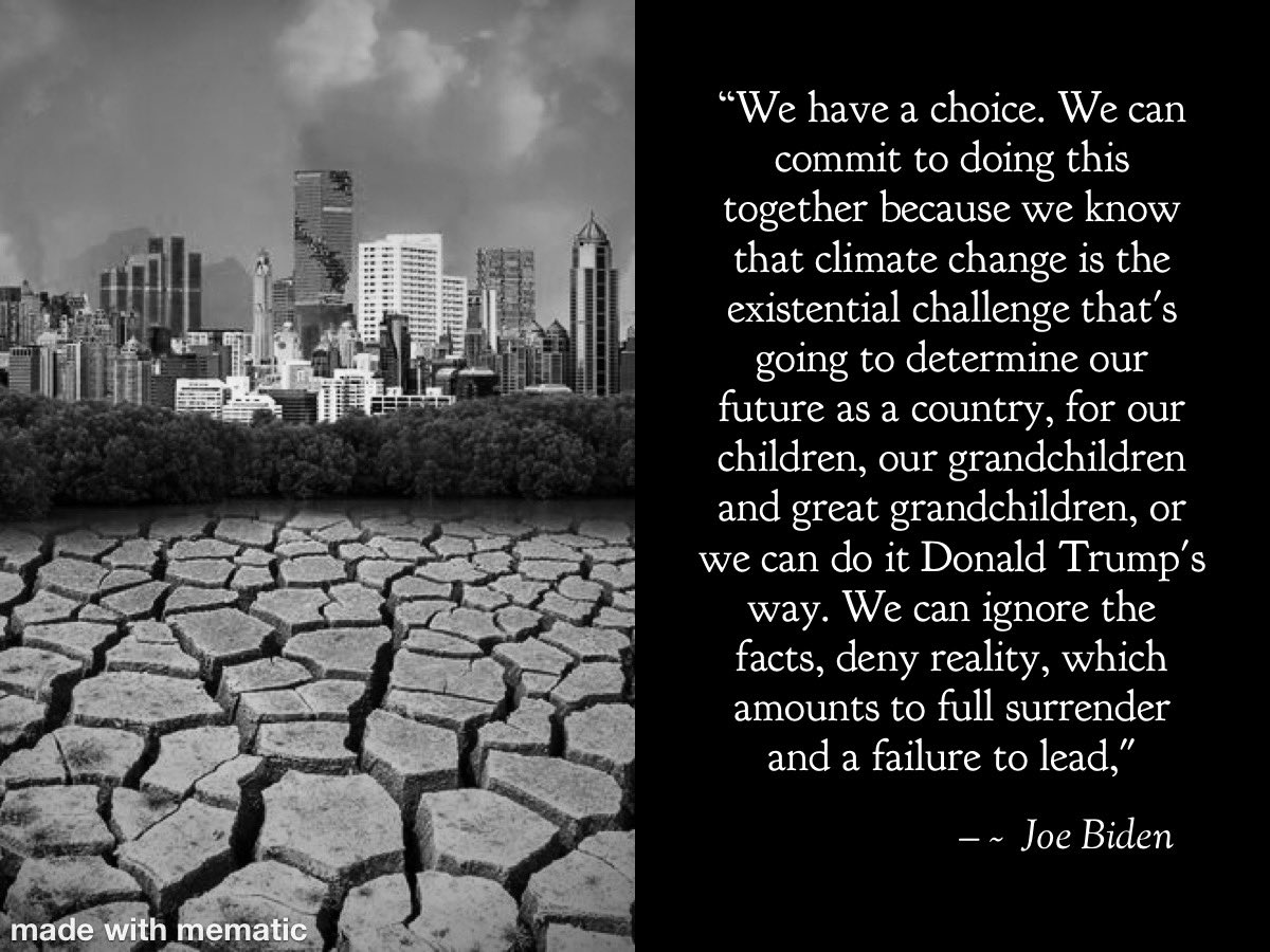 Climate change is a global emergency. We have no time to waste in taking action to protect Americans' lives and futures. 2/14  #DemPartyPlatform  #ClimateAction    #climate