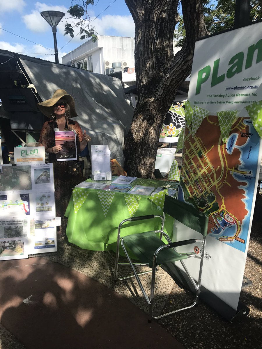 Darwin Parap Markets 8:00am-11:00am PLan Action Network is available to local residents to facilitate an understanding of planning decisions driven via the council, DCA & DIPL which fail community consultation or transparency #plan #darwin #community #consultation #environment https://t.co/Sjl8w90ix6