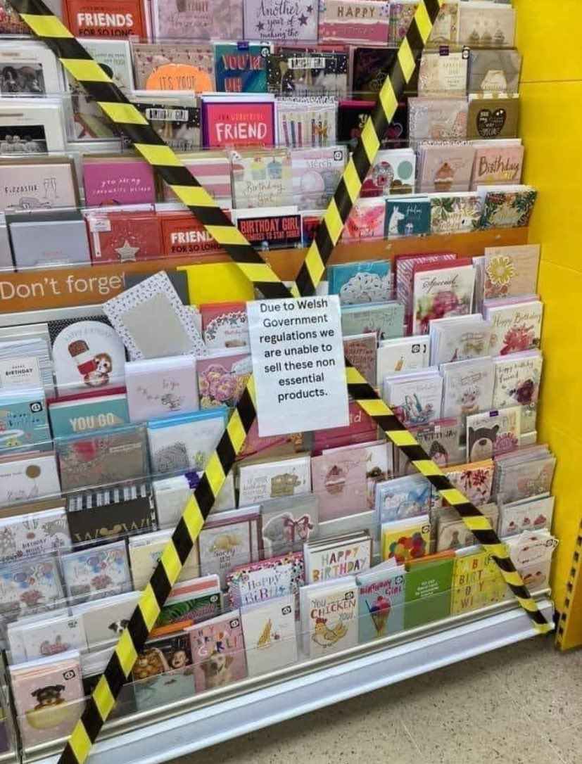 """RT @bambinobecky: """"guys what should we try next to stop the global pandemic ??""""  wales: fuck birthday cards https://t.co/caZJdxlQWM"""