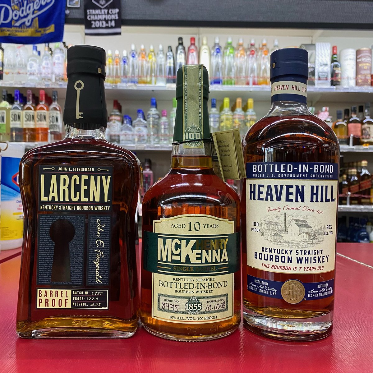 Just landed! Call store for pricing and details. Very limited amount! @larcenybourbon #henrymckenna #singlebarrel @heavenhilldistillery #100proof #bourbon #whiskey #kentuckystraightbourbonwhiskey #bottleshop #3tenliquor #shoplocal #cheers https://t.co/Msj6lMcQaD