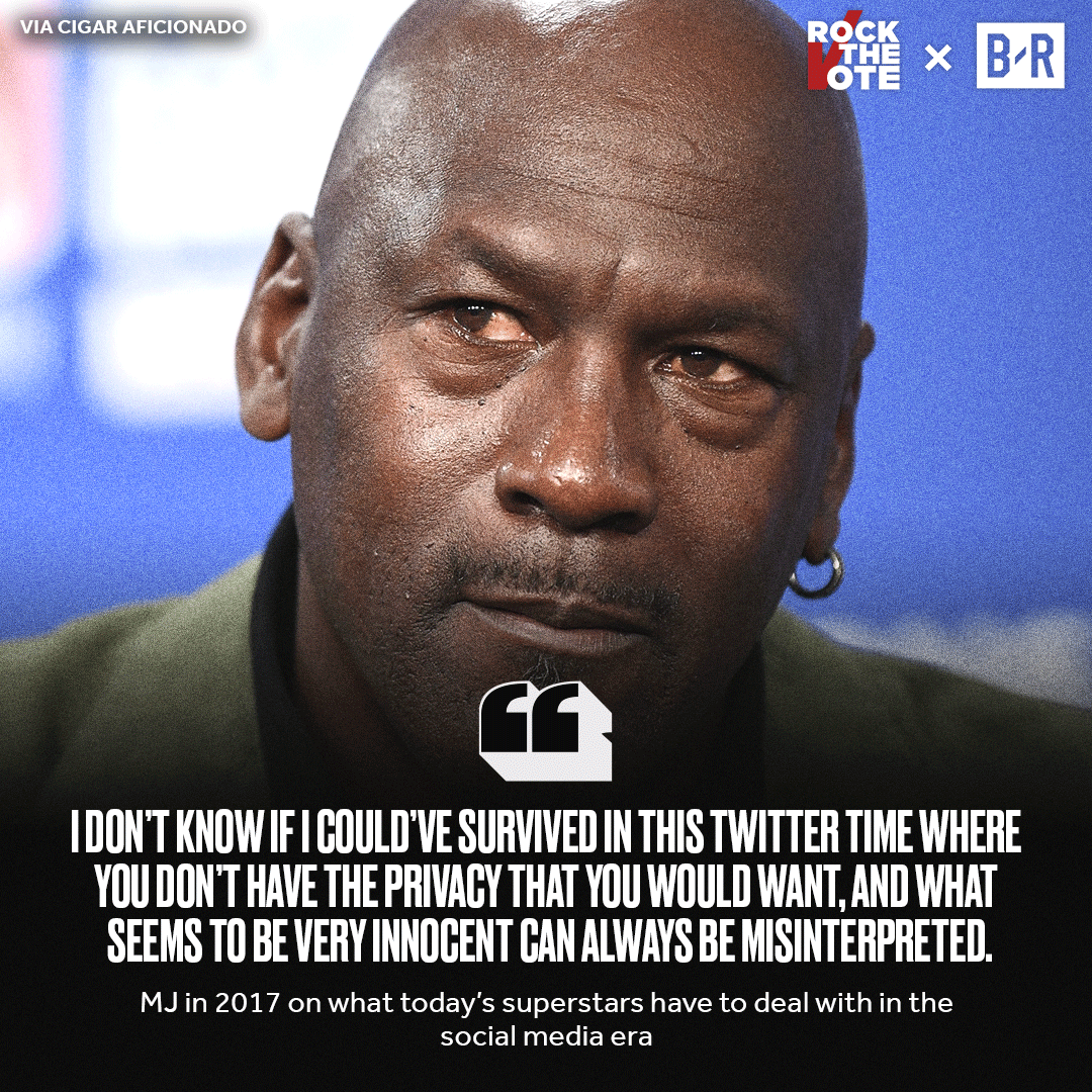 MJ doesnt know if he couldve survived in the social media era. (via @CigarAficMag)
