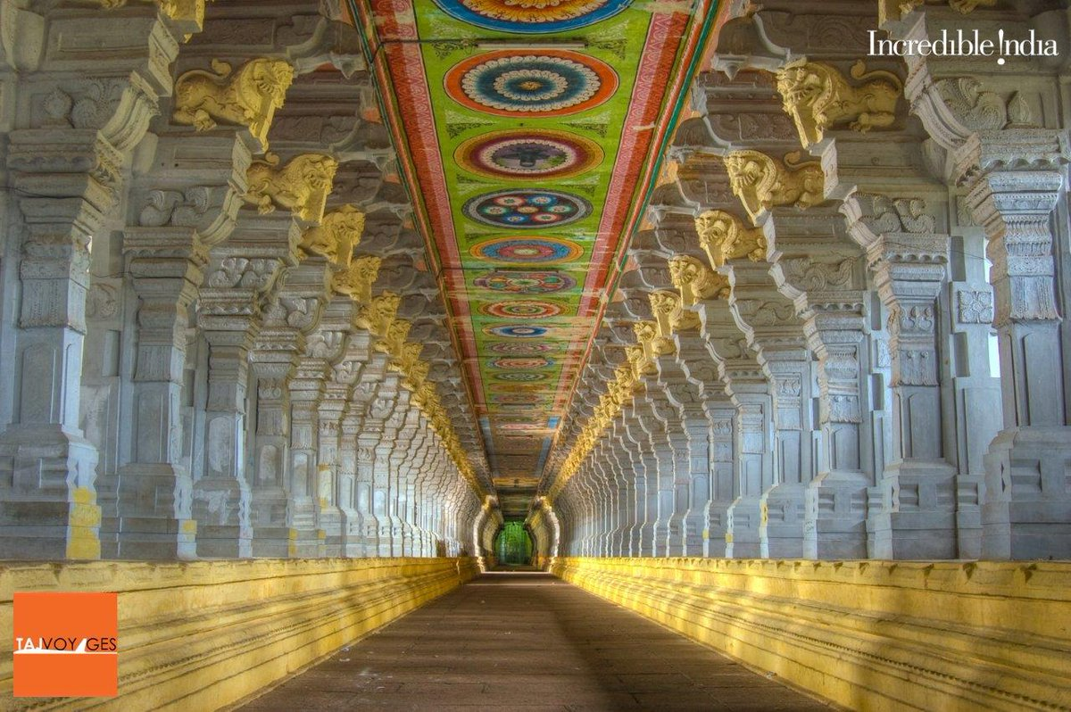 #Ramanathaswamy Temple is a #Hindu temple dedicated to the god #Shiva located on #Rameswaram island in the state of Tamil Nadu, India. It is also one of the twelve #Jyotirlinga temples  https://t.co/tVMVw3JdgZ  #IncredibleIndia #TajVoyages #VisitIndia #Heritage #Culture #History https://t.co/UNL86FZEkm