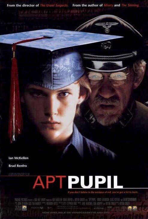 🎬MOVIE HISTORY: 22 years ago today, October 23, 1998, the movie 'Apt Pupil' opened in theaters!  #IanMcKellen #BradRenfro @DavidSchwimmer #BruceDavison #AnnDowd #JamesKaren #EliasKoteas #JoeMorton #JanTriska #MichaelByrne #HeatherMcComb #JoshuaJackson #StephenKing https://t.co/pBp4iykMJp