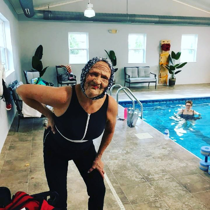 Our fitness instructor had a great time playing with the residents today! They thought they had a new instructor #Jokes #halloween #active #utica #Health #Costume @SchuylerCommons https://t.co/Vs70DbyWeR