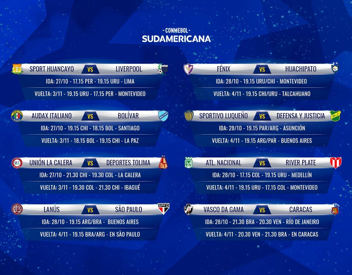 📅 ¡El fixture! Días y horarios de la Segunda Fase de la #Sudamericana, que comienza este martes.  #LaGranConquista https://t.co/xLkMMIxeo3