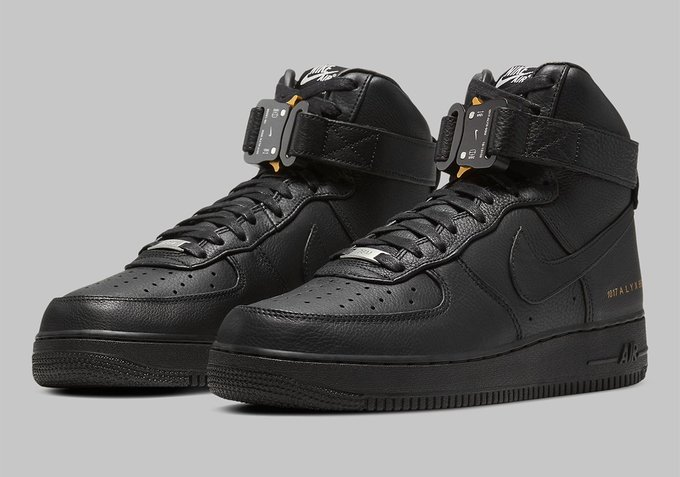 ALYX Studio x Nike Air Force 1 High 'Black' is dropping on October 24th bit.ly/Sneaker_News