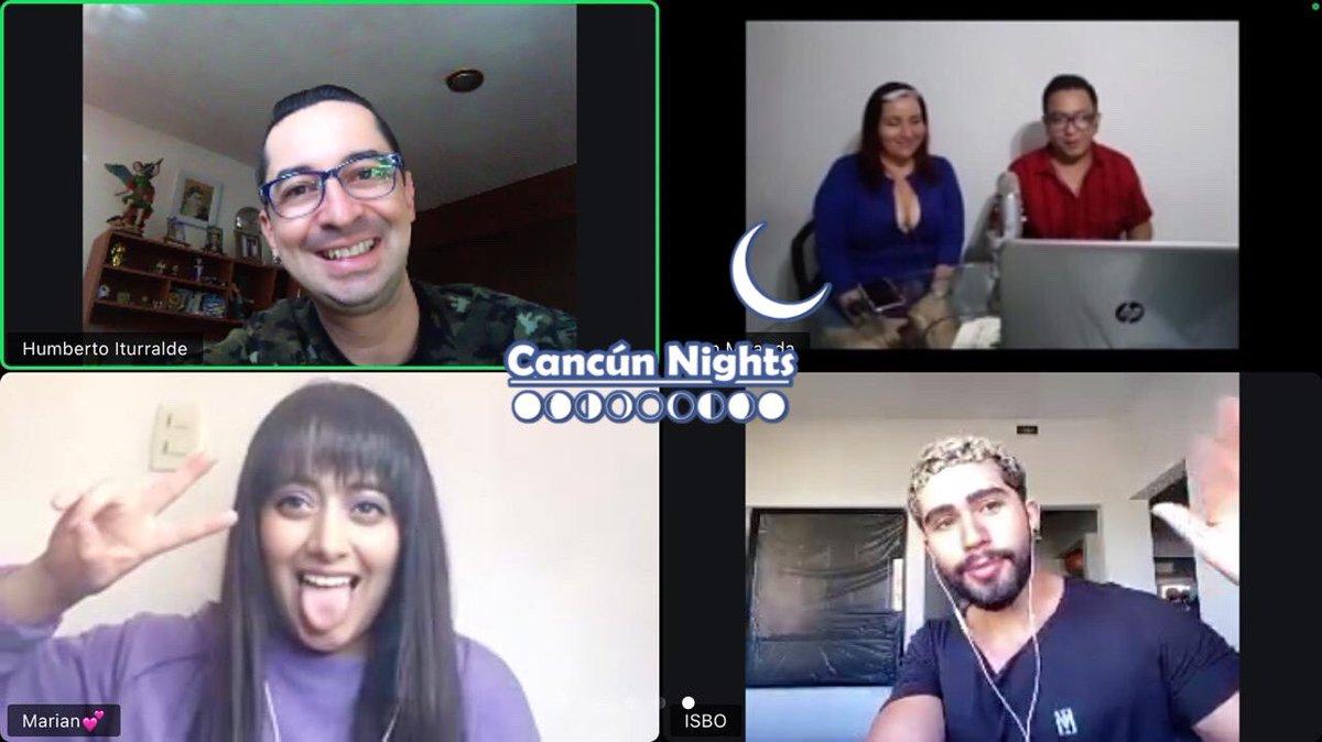 Esta noche en entrevista para #CancúnNights @mariansalinas03 e @isbo_official gracias a @SokolProd  #Viernes 23 de #Octubre 9Pm #FacebookLive #Cancún #QuintanaRoo #México https://t.co/qJ3DFFpcSV