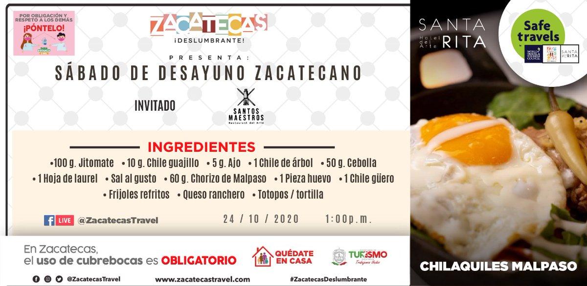¿Cómo te caerían unos chilaquiles malpaso? 🤤  Mañana en nuestro #FacebookLive vamos a aprender a preparar 🧑🍳 esta delicia en el Sábado de Desayuno Zacatecano 😋  ¡No te lo pierdas! https://t.co/b6Ra8m01qQ