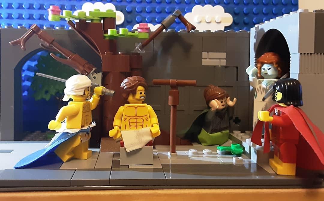 The Beheading of St John the Baptist by Puvis de Chavannes who died #OTD 24 Oct 1898 after the original @NationalGallery reinterpreted in @LEGO_Group #puvisdechavannes #nationalgallery #RebuildTheWorld #tussenkunstenquarantaine #gettymuseumchallenge #stjohnthebaptist #symbolist https://t.co/IeZGokReVH