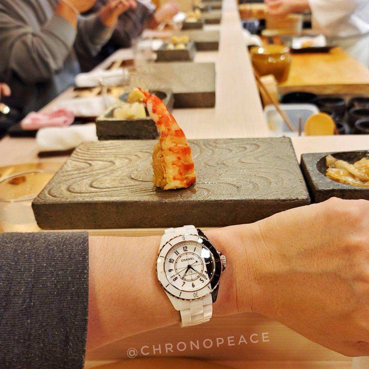 時空がズレて歪んでいる。 The space-time is being distorted and failed.  #鮨の匠 #Chanel #chanelwatches #chanelwatch #chanelj12 #chanelj12paradoxe #j12paradoxe #シャネル #シャネル時計 #シャネル腕時計 #シャネルj12 #シャネルj12パラドックス #腕時計魂 #j12パラドックス https://t.co/tsT4LkT88G