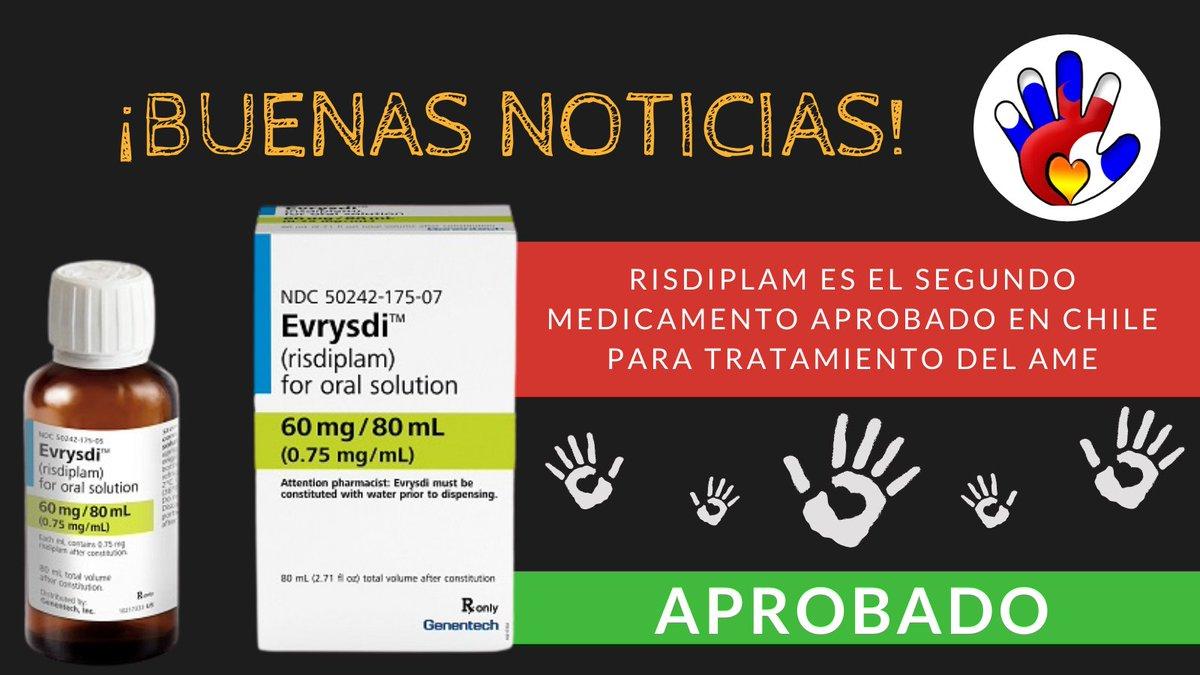 Ridisplam de @RocheLatam es el 2° medicamento para tratar la Atrofia Muscular Espinal, en ser aprobado para su uso en Chile. A diferencia de Spinraza, esta opción se administra vía oral. Todavía pendiente #AMEalaLeyRicarteSoto  @latercera @ciper @fuentesilva2 @ignaciobriones_ https://t.co/U6gvH1CCsf