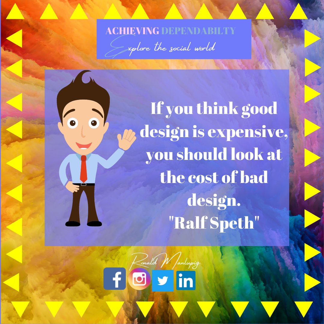 Even I sometimes wish that people first go through a cheap and lousy design only to realise the importance of a great one. https://t.co/P2p8p4IpJs For more tips and updates, follow me on #GraphicDesigner https://t.co/47XhuSV93I