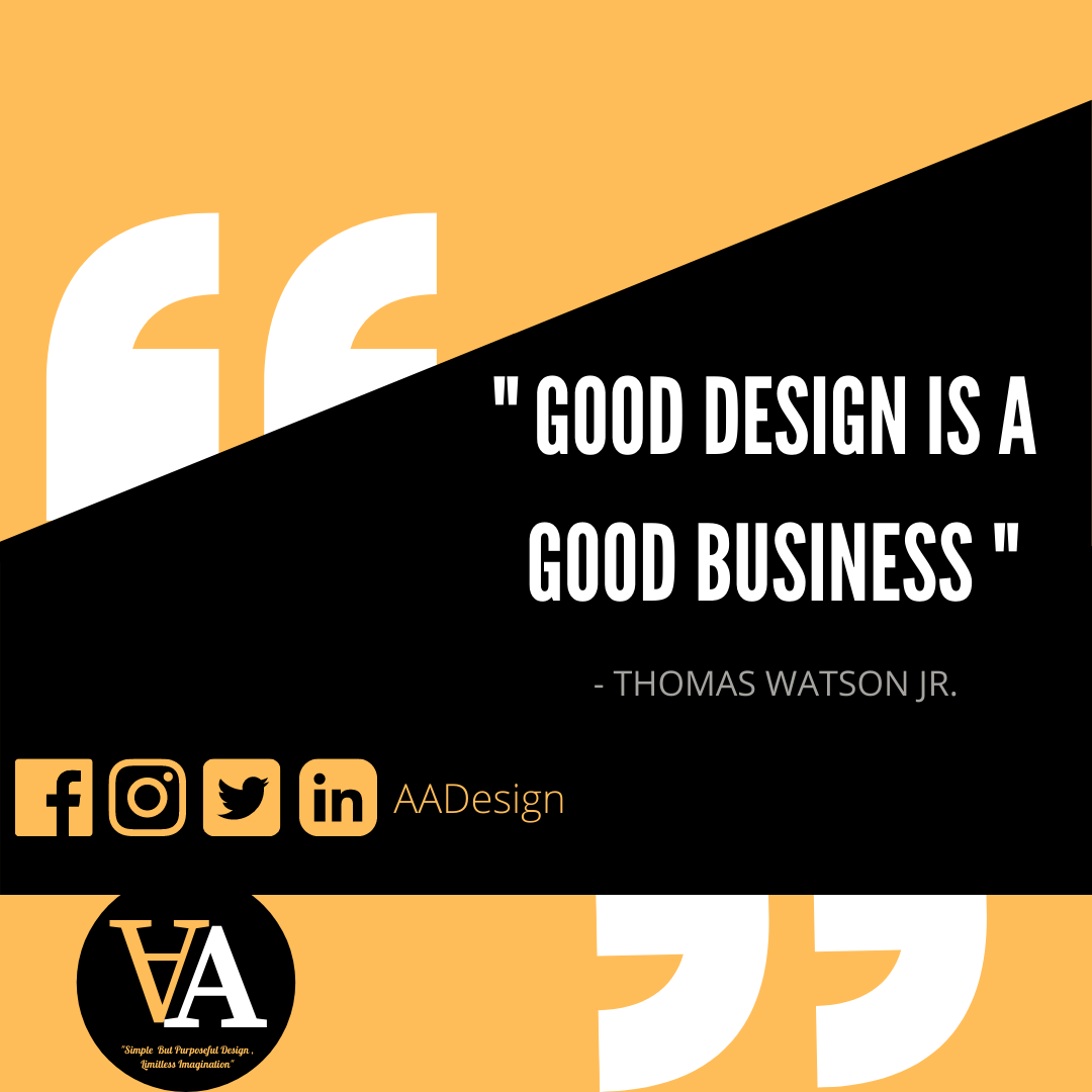 Good Design is a good business  Good design while minimizing all the necessary noise highlights the value of an online experience. and it build a successful business.  To know more, message us at https://t.co/Xe85R9FQgC  #AADESIGN #GraphicDesigner #Branding #Logo BrandingKit https://t.co/IIJoK0tjmD