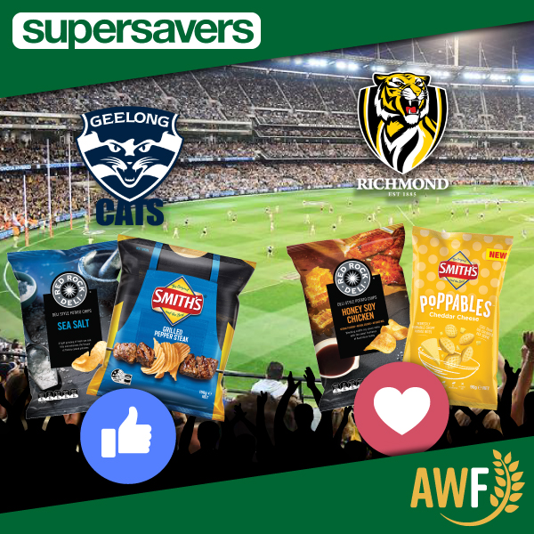 GRAND FINAL DAY! Who do you think will win? Like for Geelong Cats, Heart for Richmond Tigers! ------------- 📞 Call us: (08) 9041 1424 📧 Email: sales@allwaysfoods.com.au #supersavers #AWF #AllwaysFoods #warehouse #merredin #AFL #grandfinal #Geelongcats #RichmondTigers https://t.co/QpzgQjTHZt