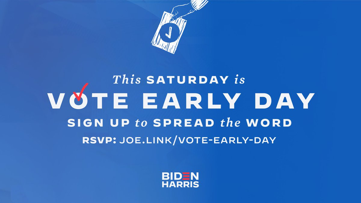 @JoeBiden's photo on #VoteEarlyDay