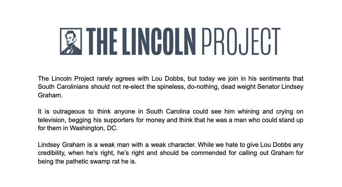 @ProjectLincoln's photo on The Lincoln Project