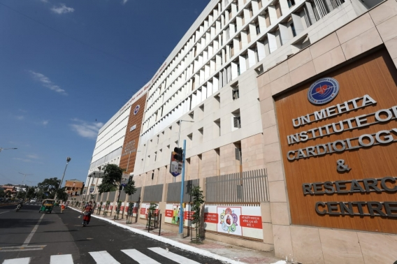 A new building of UN Mehta Heart hospital