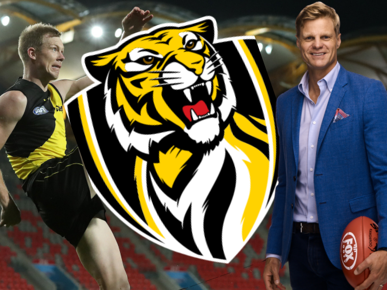 🏆 | Nick Riewoldt's #AFLGF tips  Richmond by 7 points Norm Smith: Shai Bolton First goal: Jack Riewoldt   Check out Roo's full thoughts on the decider here: https://t.co/szPOzn0HpN https://t.co/BgTglQLDCC
