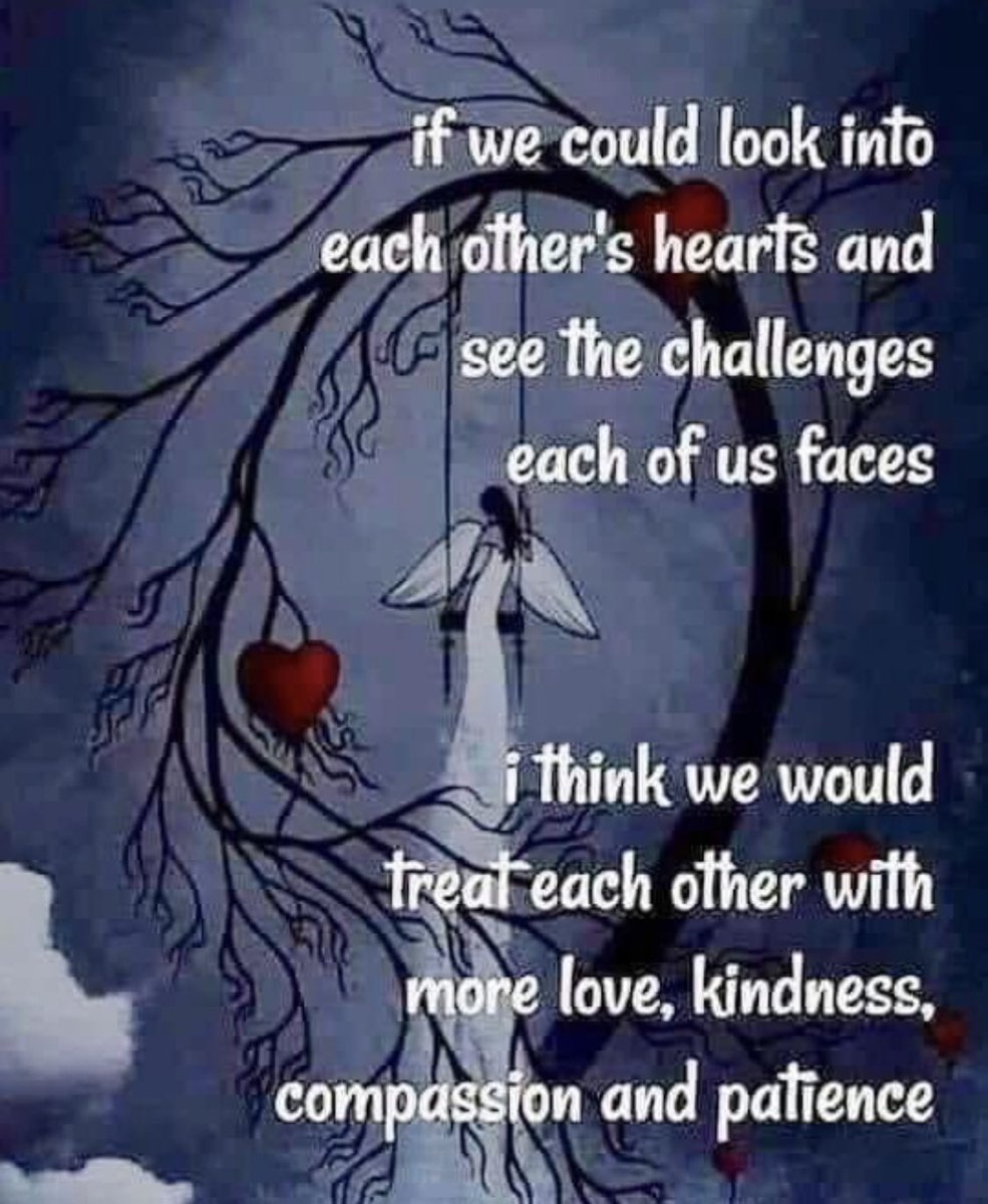Treat EVERYONE with kindness... you never know what struggles they are going through. #BeKind  #loveeveryone #smilemore #laughoften #includeothers #bethereasonsomeonesmiles https://t.co/ugdkkWNaMK