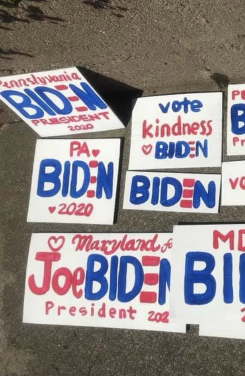 "We can't just ""beat"" Trump. He needs to be hit with a TSUNAMI of Biden Ballots — a vote so massive, so obliterating, it crushes him & his Republican enablers from sea to shining sea! Let's all make yard & window signs this weekend! Homemade is the best! Family project! Send pix! https://t.co/O1wGr3wmoj"