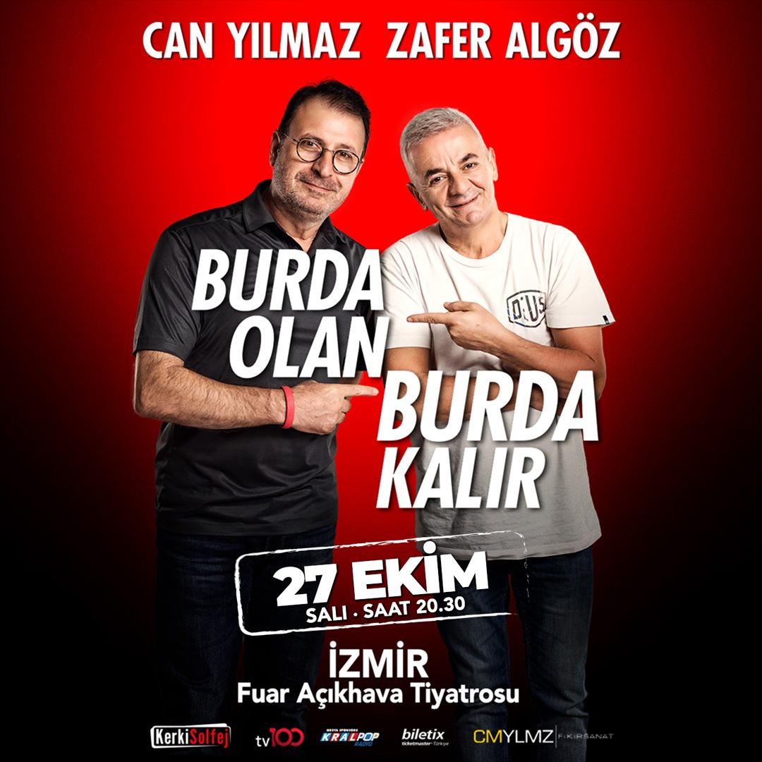 🎶😷 #BurdaOlanBurdaKalır 27 Ekim'de #İzmir'de! 🎭  🎫 Biletler Biletix'te! 🌎   📞 0850 888 60 10  🏷 @fikirsanat • @KerkiSolfej  • @biletix • #tiyatro