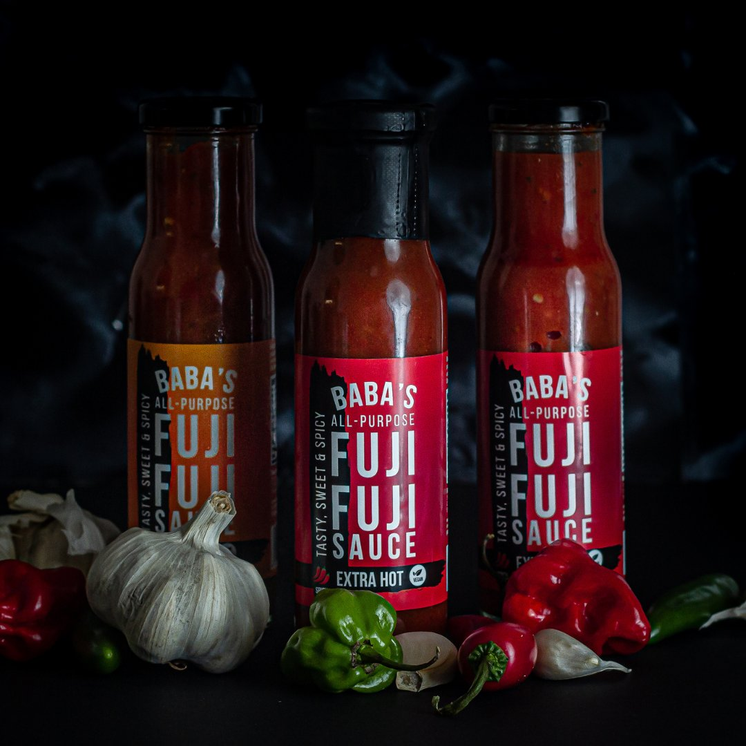 We look cool, don't we? We taste amazing as well 🌶️🌶️ #FujiFujiSauce #Spicy #Tasty #Naija #Food #Marinade #Condiment #Grill #BBQ #new #newproduct #newsauce #hotsauce #chillisauce #ukbbq #realsauce  #foodie #london #food #tbt #newday #leanin15 #blackpound #recipes #lunch https://t.co/JU5UDtTROj