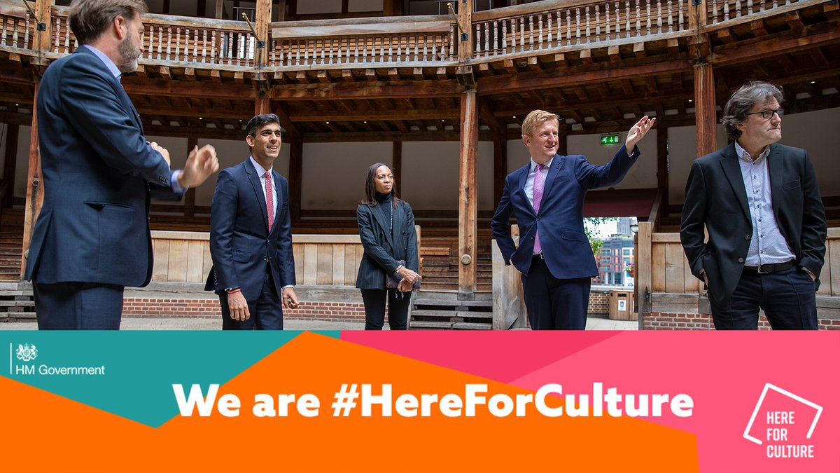 The government is #HereForCulture to ensure that our audiences will yet again experience Shakespeare's poetry in our wooden 'O', an emblem of survival spanning 400 years, a plague, and now a pandemic – a reminder that we will come through this time and be together once again. ⭕ https://t.co/ci3aT7Sa3N