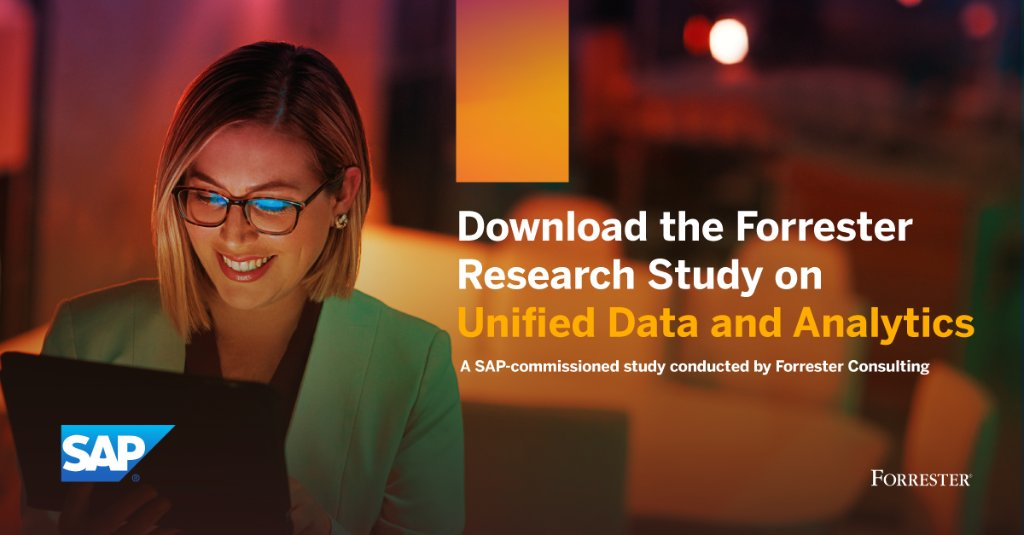 SAP has commissioned @Forrester Research to share strategies to unify data and analytics to help accelerate business-critical insights, based on global research involving 420 #datawarehouse and #analytics strategy decision makers.  Get the report: https://t.co/iMI5bJSFEl https://t.co/zcu7I5P9F3