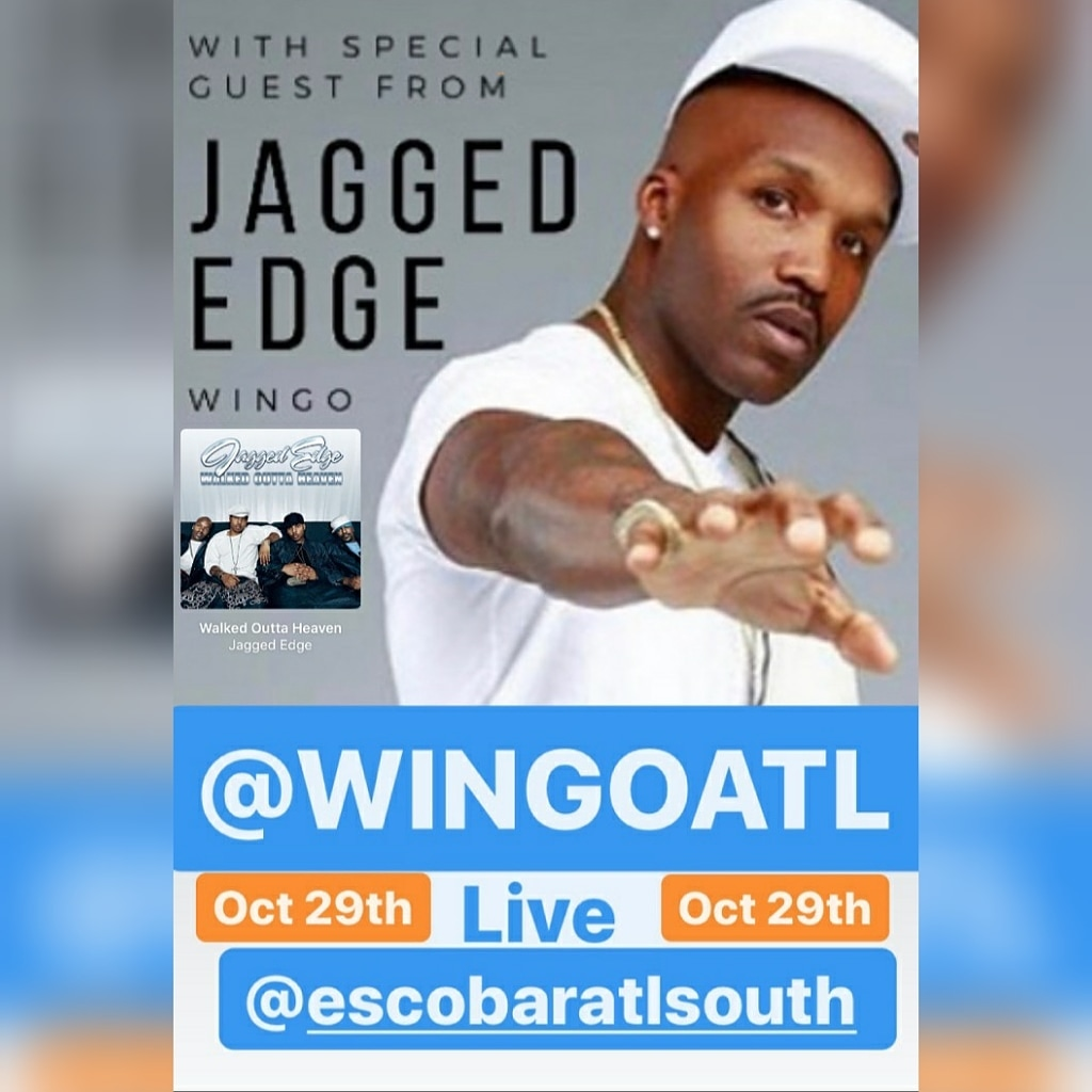 Perform live Oct. 29th  Special guest Wingo from #JaggedEdge Live‼ at Escobar South 1140 MT. Zion Rd Early arrival suggested   To perform @rinakreeps or text #PopMyShyt to 7708204196 #rnbmusic #RNB #singers #songwriter #Lovemusic #soulmusic https://t.co/8I9rZyYeoK