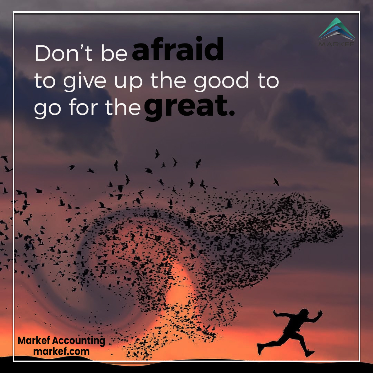 """""""Don't be afraid to give up the good to go for the great.""""  #Markef #MarkefAccounting #success #afraid #great #Important #Motivation #Motivational #SuccessQuote #Plan #Silence #Pursue #True #Dreams #UAE #Dubai https://t.co/HAE4zVEBqf"""